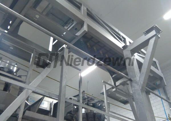 Konstrukcje wsporcze ze stali kwasoodpornej rama