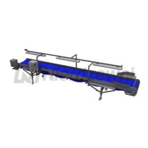 Przenośnik inspekcyjny z detektorem metalu podajnik z detektorem